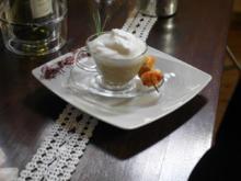 Kartoffel-Cappuccino mit Maronen-Scampi-Spieß - Rezept