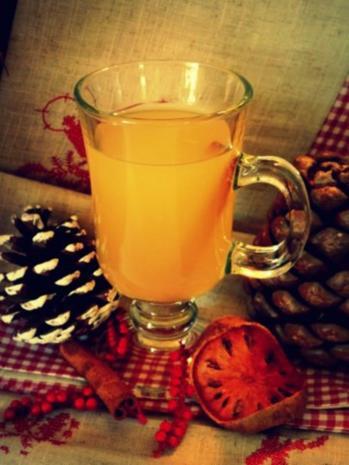 Getränk: Heißer Zimt-Apfelsaft - Rezept