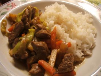 Fleisch: Lamm und Gemüse aus dem Wok - Rezept