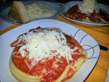 Pasta mit Chorizo Biersauce - Rezept