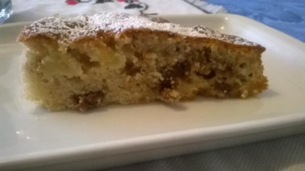 Apfel Rosinen Feigen Kuchen - Rezept - Bild Nr. 2