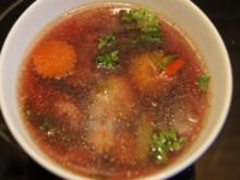 Dunkle Rindfleisch-Gemüsesuppe - Rezept