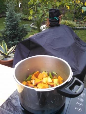 Thai Kürbis Kokosnuss Curry creme suppe ... - Rezept - Bild Nr. 4