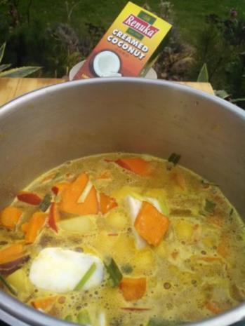 Thai Kürbis Kokosnuss Curry creme suppe ... - Rezept - Bild Nr. 6