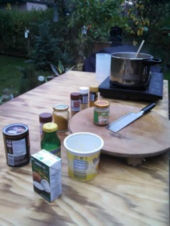 Thai Kürbis Kokosnuss Curry creme suppe ... - Rezept - Bild Nr. 7
