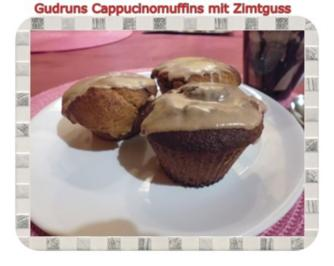 Muffins: Cappuccino-Marzipanmuffins mit Zimtguss - Rezept