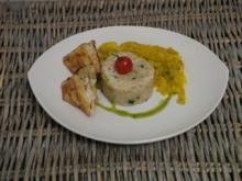 Seeteufel im Filoteig mit Graupenrisotto und karamellisiertem Fenchelgemüse - Rezept