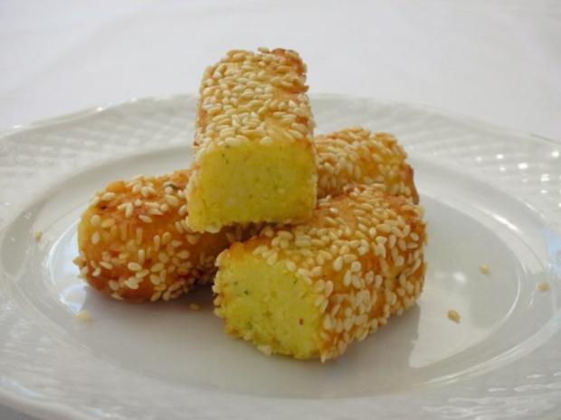 Couscous-Stäbchen zu gebratenem Zanderfilet an Limettensauce - Rezept - Bild Nr. 3