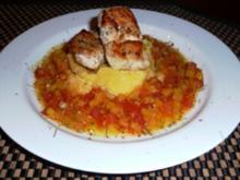 Safranhähnchen mit Polenta - Rezept