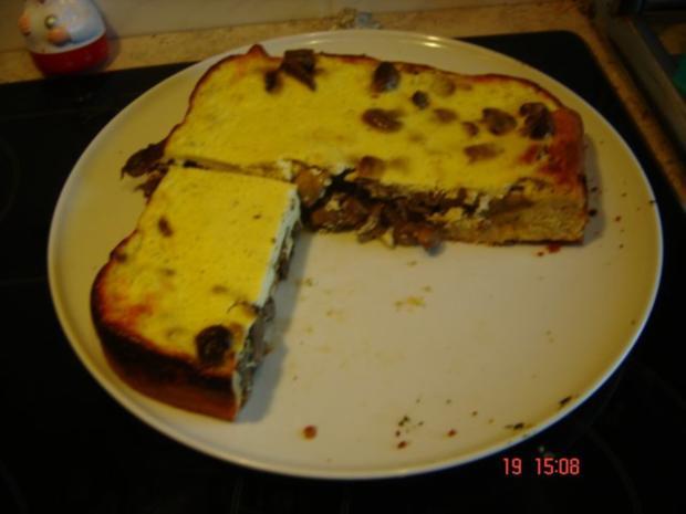 Champignon-Tarte mit Pizzateig - Rezept - Bild Nr. 2