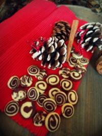 Weihnachtsplätzchen: Marzipan-Schoko-Schwarz-Weiß-Gebäck - Rezept