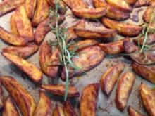 Kartoffelecken / Potato wedges - Rezept