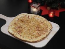Süßer Apfelflammkuchen - Rezept