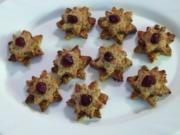 Haselnuss-Cranberry- Sterne - Rezept