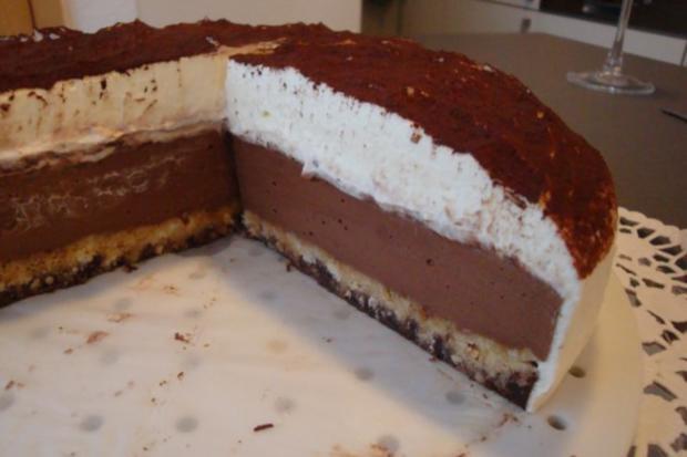 Schokoladen-Frischkäsetorte ; aus dem Kühlschrank - Rezept