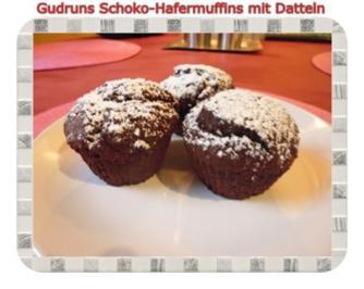 Rezept: Muffins: Schoko-Hafermuffins mit Datteln