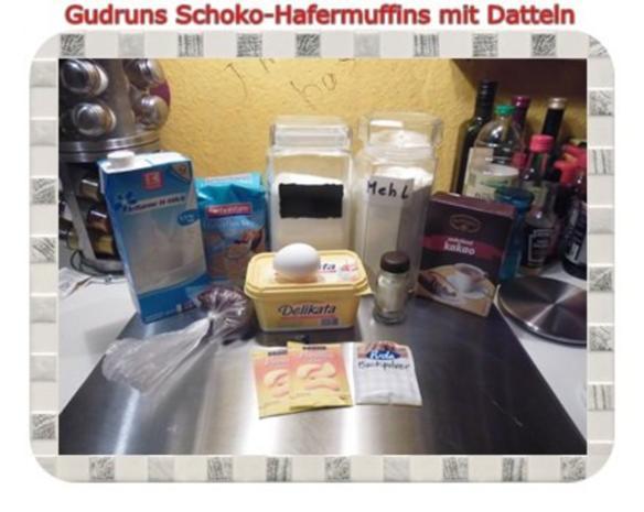 Muffins: Schoko-Hafermuffins mit Datteln - Rezept - Bild Nr. 2