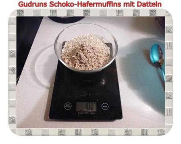 Muffins: Schoko-Hafermuffins mit Datteln - Rezept - Bild Nr. 3