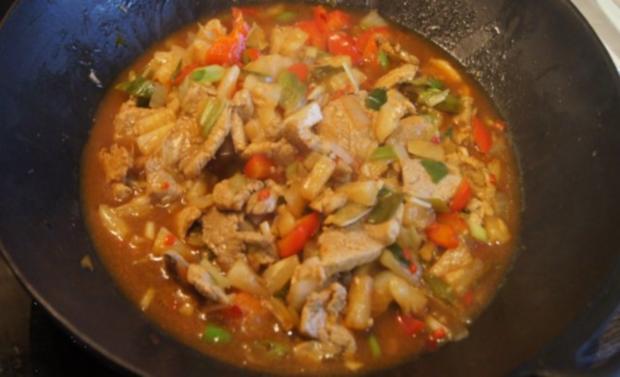 Schweinefilet-Ananas-Wok mit chinesischen Nudeln - Rezept - Bild Nr. 15
