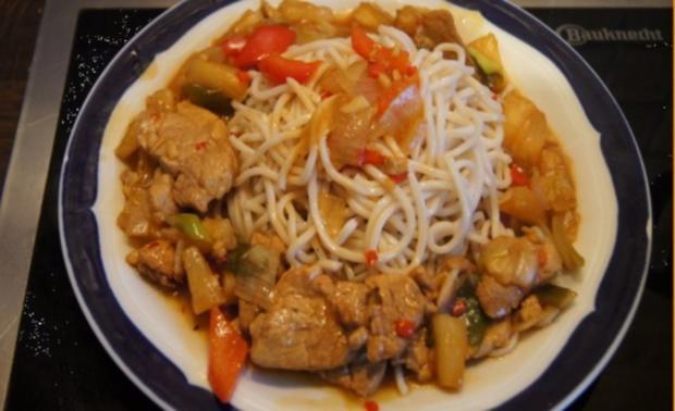 Schweinefilet-Ananas-Wok mit chinesischen Nudeln - Rezept - Bild Nr. 17