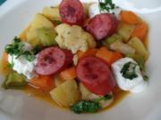 Gemüsegulasch mit Cabanossi - Rezept