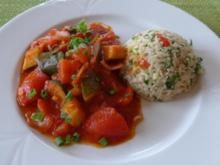 Bunter Reis im Duett mit Paprika - Ratatuollie - Rezept