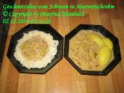 Fleisch – Geschnetzeltes vom Schwein in Meerrettichrahm - Rezept