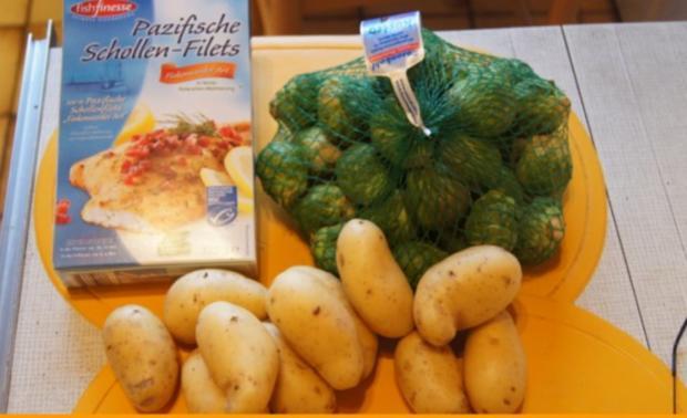 Schollenfilet -Finkenwerder Art- mit Rosenkohl und Kartoffelstampf - Rezept - Bild Nr. 2