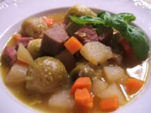 Suppen: Eintopf ohne Kohlenhydrate mit Rinderzunge - Rezept
