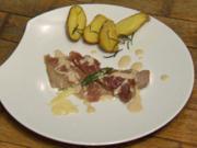 Saltimbocca mit Rosmarin-Meersalz-Kartoffeln und Parmesanschaum (Benjamin Heinrich) - Rezept
