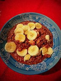 Frühstück: Bananen-Erdnussmus-Müsli - Rezept