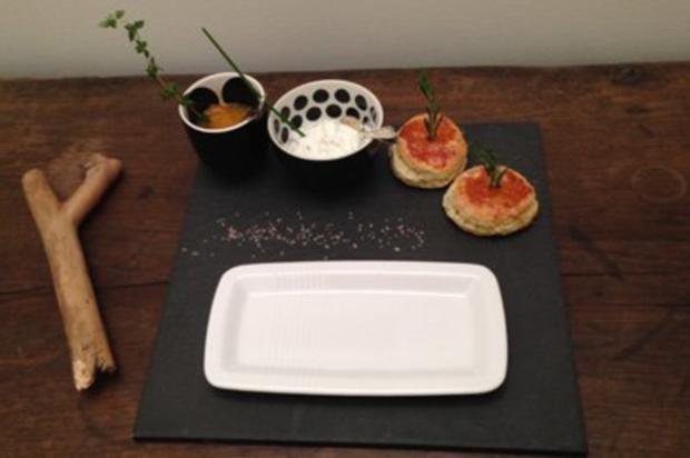 Kumquat-Chutney, Rosmarin-Scones und Ziegenfrischquark - Rezept