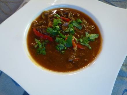 Würzige Hirschgulasch-Suppe - Rezept