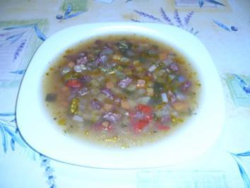 Thüringer Knackwurstsuppe - Rezept