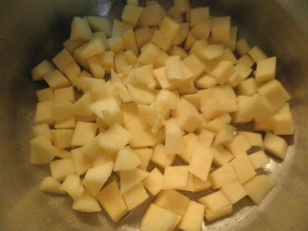 Karotten - Orangen - Mousse, Steckrüben - Apfel - Creme und karamellisierte Kartoffelchips - Rezept - Bild Nr. 7