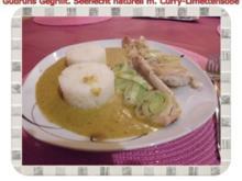 Fisch: Gegrillter Seehecht naturell mit Curry-Limettensoße - Rezept