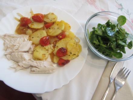 Forelle im Zwiebel-Tomatenbett - Rezept
