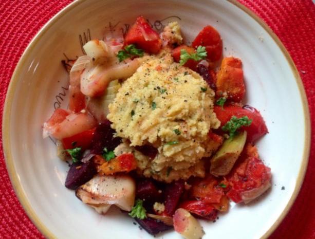 Polenta mit Gemüse aus dem Bratschlauch - Rezept - Bild Nr. 2