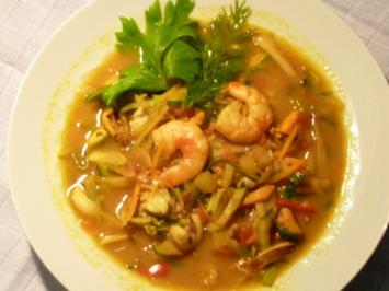 Curry Fisch Suppe - Rezept