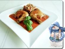 Schmackhafte Hähnchenschenkel  mit Taboulé - Rezept
