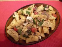 Backkartoffeln mit Tomaten und Lauchzwiebeln - Rezept
