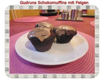 Rezept: Muffins: Schokomuffins mit Feigen