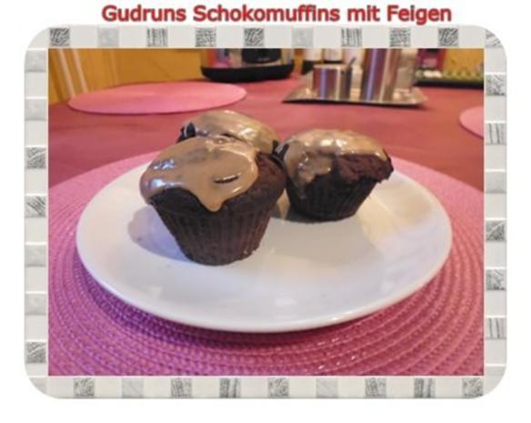 Muffins: Schokomuffins mit Feigen - Rezept