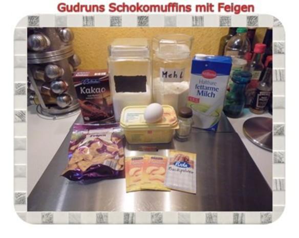 Muffins: Schokomuffins mit Feigen - Rezept - Bild Nr. 2