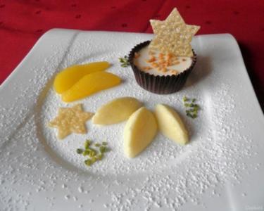 Mandel - Panna Cotta im Schokoladenmantel, - Rezept