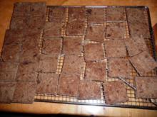 Weihnachtsgebäck : Zimtwaffeln mit Mandeln + Blockschokolade - Rezept