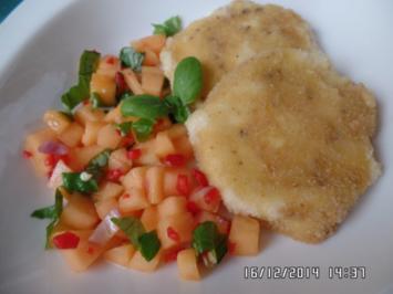 Gebackener Mozzarella mit Melonen-Salsa - Rezept
