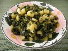 Grünkohl mit Kartoffelwürfel - Rezept