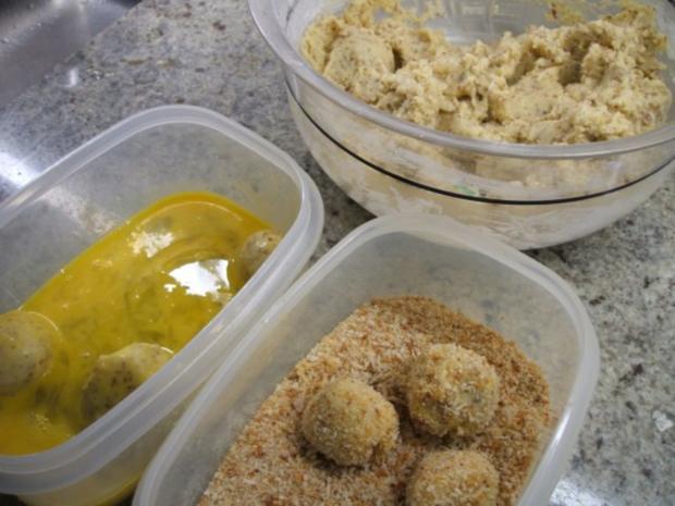 Kartoffeln: Kartoffelbällchen mit Nuss - Rezept - Bild Nr. 4