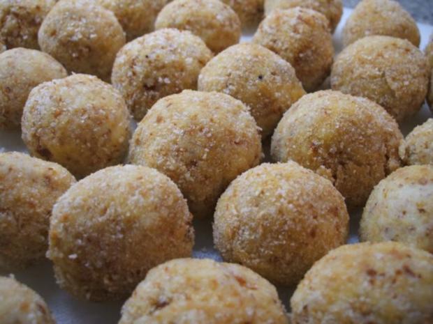Kartoffeln: Kartoffelbällchen mit Nuss - Rezept - Bild Nr. 5